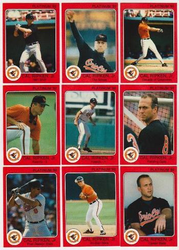 1992 Star Platinum Cal Ripken, Jr. 9 Card Set (Only 1000 Sets Exist!)