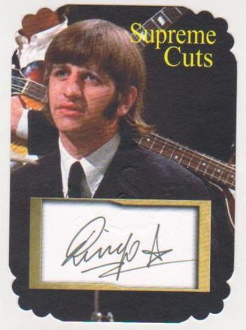 #25/25 Produced - Ringo Starr Facsimile Autograph Supreme Cuts Special Die Cut Card - The Beatles