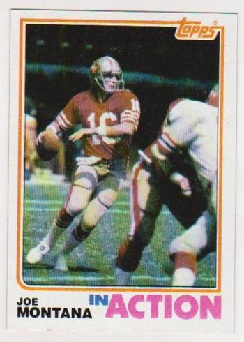 Vintage - 1982 Topps Joe Montana #489 - 2nd Year Card