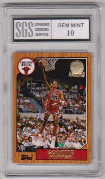 Graded Gem Mint 10 - Scottie Pippen 1993 Topps Archives Gold #97 Card