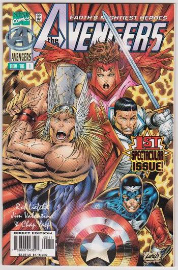 1996 THE AVENGERS #1 Issue - Marvel Comics