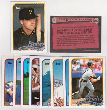 ERROR LOT - 10 Different 1989 Topps Baseball Wrong Back Errors - Andre Dawson Back & More