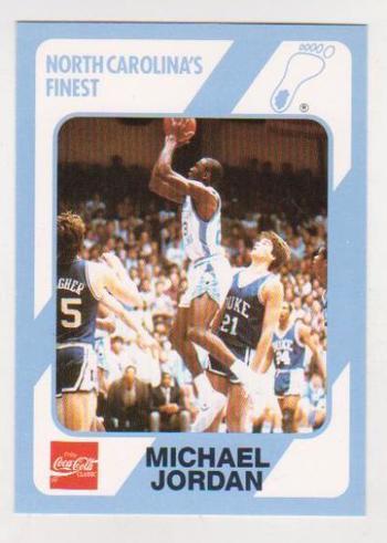 Michael Jordan 1989 North Carolina #18 College Card