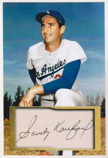 Sandy Koufax 4x6 Photo w/ Facsimile Signature - Nice For Framing!