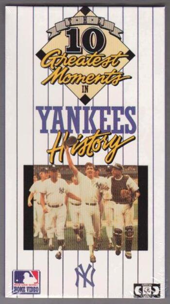 Sealed 1987 New York Yankees 10 Greatest Moments VHS Video - Scarce