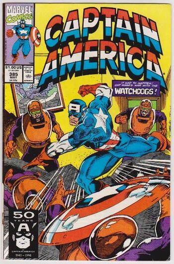 1991 Captain America #385 Issue - Marvel Comics