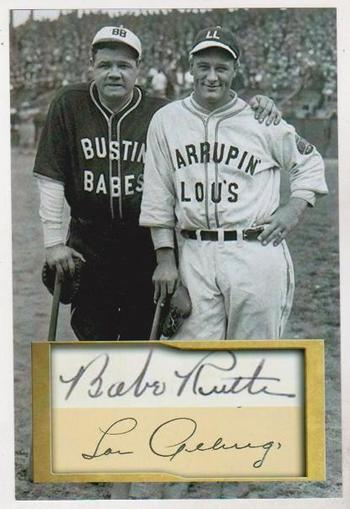 Babe Ruth + Lou Gehrig 4x6 Photo w/ Facsimile Signatures - Nice For Framing!