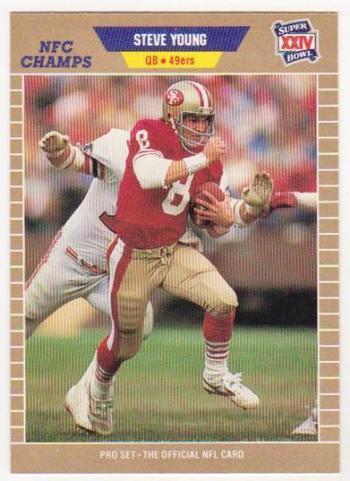 ERROR - Steve Young 1989 Pro Set WRONG BACK Super Bowl XXIV Card