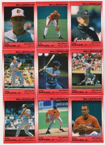 1991 Star Millennium Cal Ripken, Jr. 9 Card Set (Only 1000 Sets Exist!)