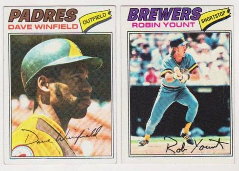 1977 Topps Robin Yount #635 + Dave Winfield #390 Card Pair