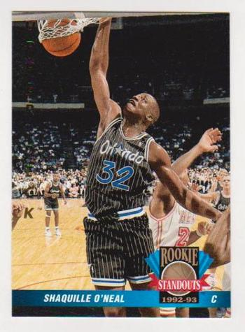 1992-93 Upper Deck Shaquille O'Neal Rookie Standouts #RS15 Card