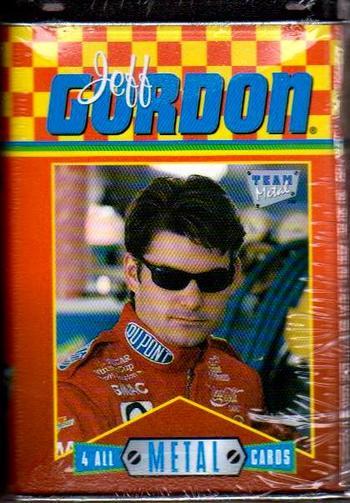 1996 Jeff Gordon 4 Card Metal Cards Set In Collector's Tin - Sealed