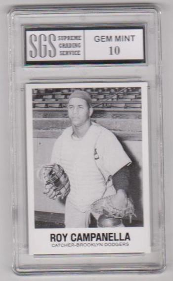 Graded Gem Mint 10 - Roy Campanella 1977 TCMA #5 Card