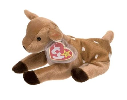 1998 Ty Beanie Baby Whisper The Deer - New With Tags