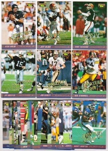 Lot of 25 1995 Pro Line II Printer's Proof Football Insert Cards - 725 Of Each Exists