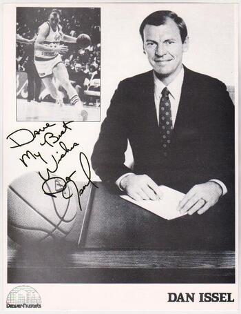 Autographed Dan Issel B+W 8x10 Photo - HOF'er Autograph