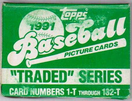 1991 Topps Traded Baseball 132 Card Set In Factory Box