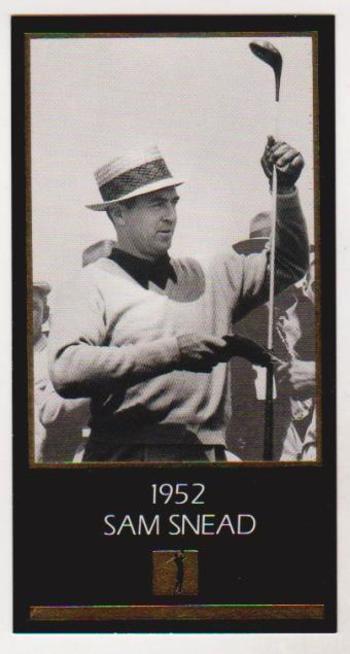 1997 Sam Snead Gold Foil Grand Slam Ventures - 1952 Masters