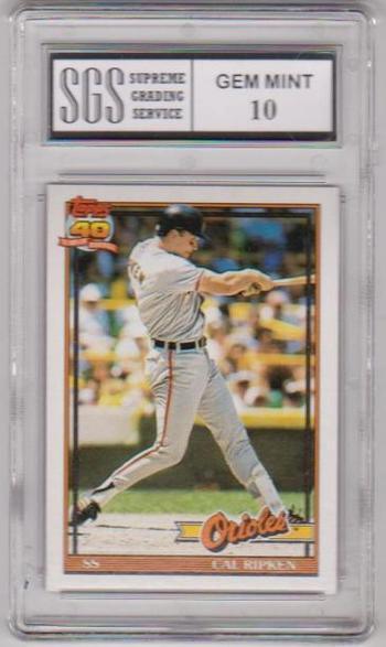 Graded Gem Mint 10 - Cal Ripken, Jr. 1991 Topps #150 Card
