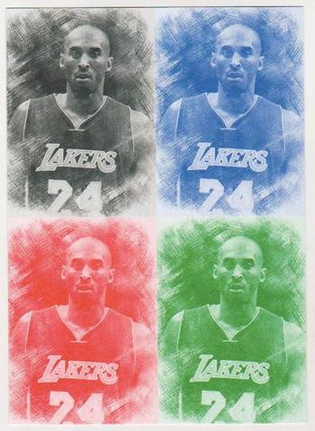 Uncut Sheet - Kobe Bryant ACEO Pencil Sketch Facsimile Autograph 4 Card Sample Sheet