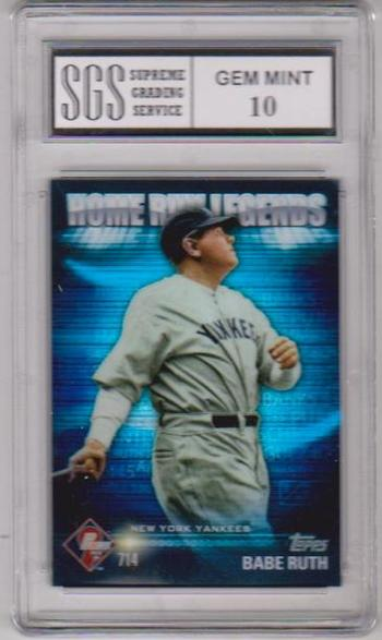 Graded Gem Mint 10 - Babe Ruth 2012 Topps Home Run Legends #HRL-2 Card