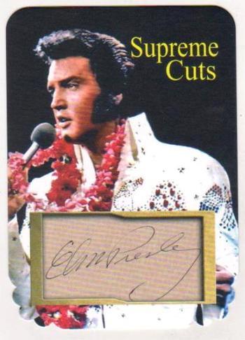 #29/75 Produced - Elvis Presley Facsimile Autograph Supreme Cuts Special Die Cut Card - Scarce!