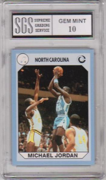 Graded Gem Mint 10 - Michael Jordan - 1990 North Carolina