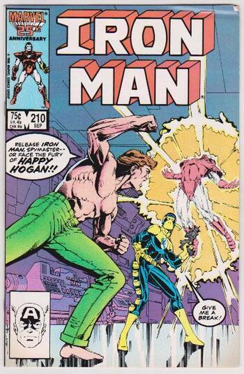 1986 Iron Man #210 Issue - Marvel Comics