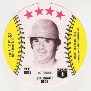 1976 Isaly's Disc Pete Rose Card - High Grade
