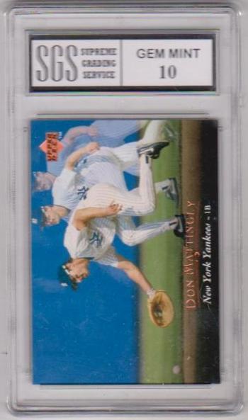 Graded Gem Mint 10 - Don Mattingly 1995 Upper Deck #210 Card