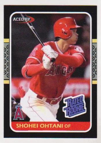 Rookie - Shohei Ohtani 1987 Donruss Rated Rookie Style ACEO RP Card