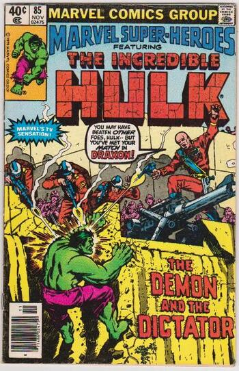 1979 The Incredible Hulk #85 Issue - Marvel Comics