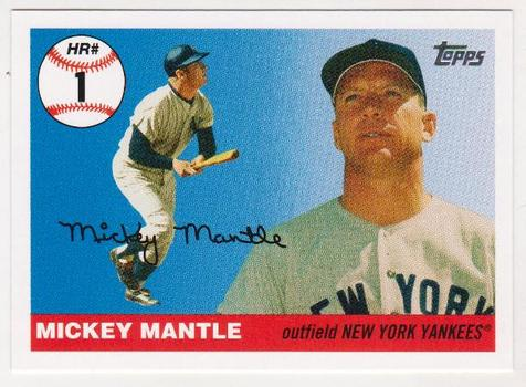 Mickey Mantle '55 Topps Style HR #1 2006 Topps #MHR1 Insert Card