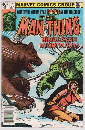 1980 THE MAN-THING #2 Issue - Marvel Comics - Vintage