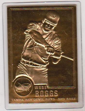 22 kt Gold - Wade Boggs 2001 Danbury Mint Gold Card - HOF'er