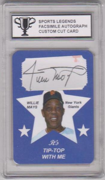 #43/50 Produced - Willie Mays Sports Legends Facsimile Autograph Custom Cut ACEO Card