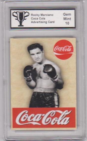 Graded Gem Mint 10 Rocky Marciano Coca-Cola Advertising Promo Card