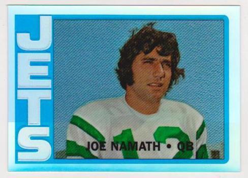 REFRACTOR - 1996 Topps Joe Namath '72 Topps #8 Of 10 Commemorative Insert Card