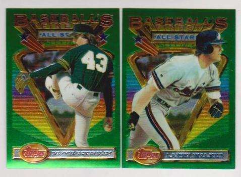 1993 Topps Finest Larry Walker #97 + Dennis Eckersley #100 Card Pair