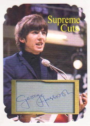 #14/25 Produced - George Harrison Facsimile Autograph Supreme Cuts Special Die Cut Card - The Beatles