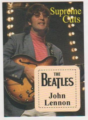 #78/99 Produced - John Lennon Facsimile Autograph Supreme Cuts Limited Edition Card
