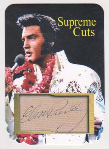 #43/75 Produced - Elvis Presley Facsimile Autograph Supreme Cuts Special Die Cut Card - Scarce!