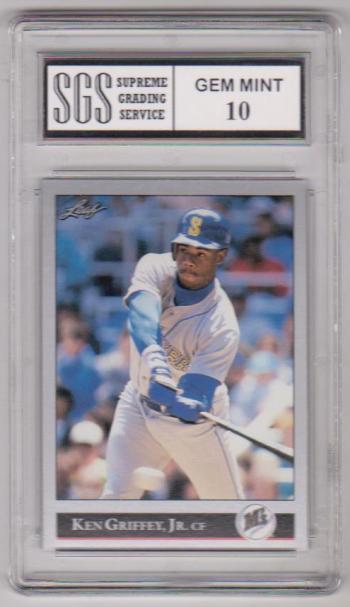 bda26226c5 Graded Gem Mint 10 - Ken Griffey, Jr. 1992 Leaf #392 Card | Property ...