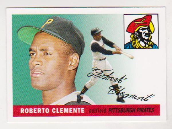 Roberto Clemente 1955 Topps 164 Rookie Commemorative Card