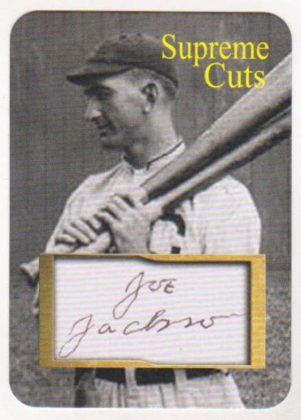 750 Produced Shoeless Joe Jackson Facsimile Autograph