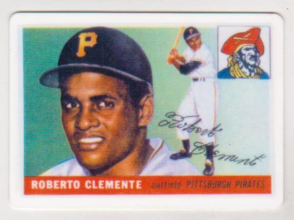1955 Topps Roberto Clemente 164 Rookie Porcelain Replica