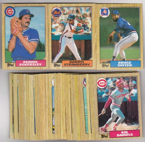 50 Different 1987 Topps Baseball Cards Darryl Strawberry