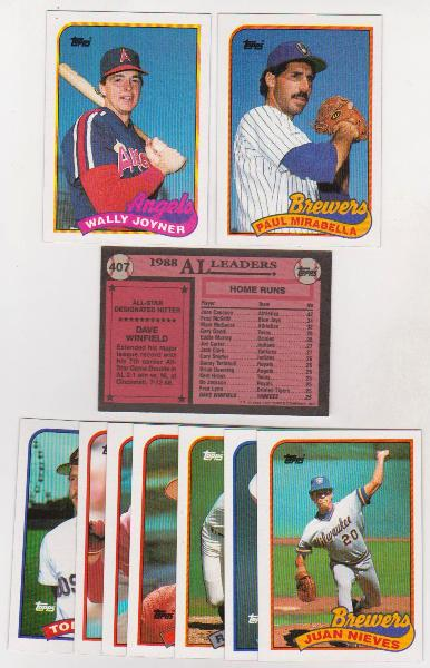 Error Lot 10 Different 1989 Topps Baseball Wrong Back Errors