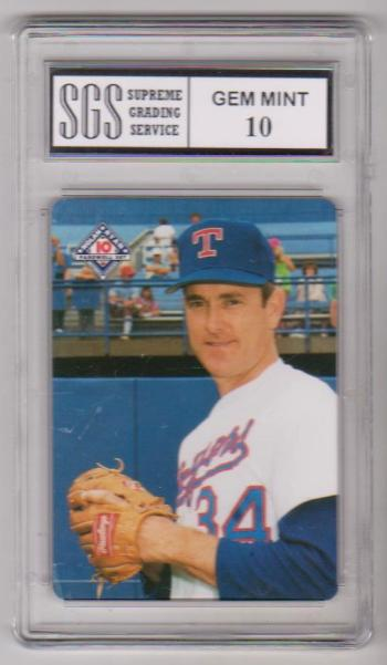 Graded Gem Mint 10 Nolan Ryan 1994 Mothers Cookies 7 Of 10 Card