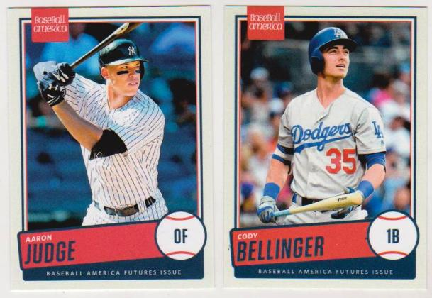 2017 Aaron Judge Cody Bellinger Baseball America Dual